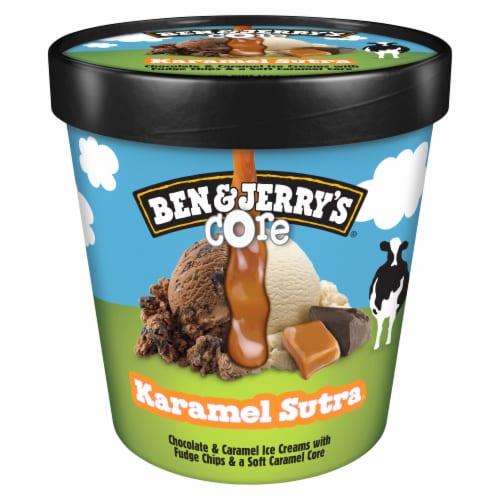 Ben & Jerry's Karamel Sutra Core Ice Cream Perspective: back