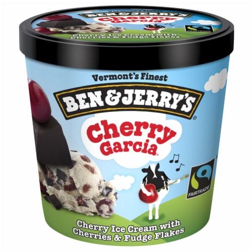 Ben & Jerry's Cherry Garcia Ice Cream Perspective: back