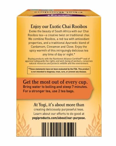 Yogi Chai Rooibos Caffeine Free Tea Bags Perspective: back