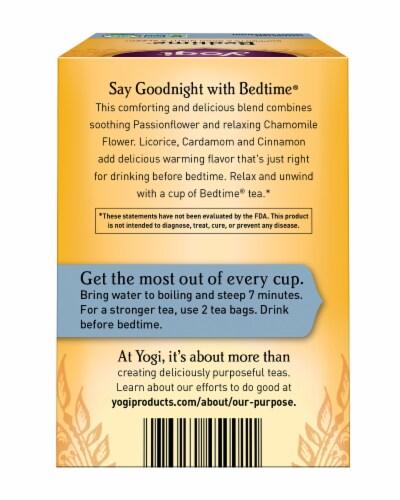 Yogi Bedtime Caffeine Free Tea Bags Perspective: back