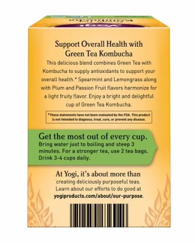 Yogi Kombucha Green Tea Bags Perspective: back