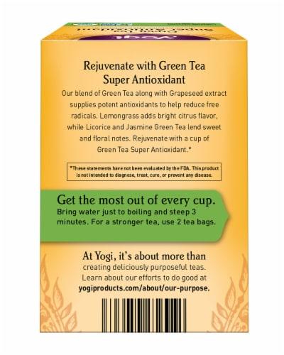 Yogi Super Antioxidant Caffeine Free Green Tea Bags Perspective: back