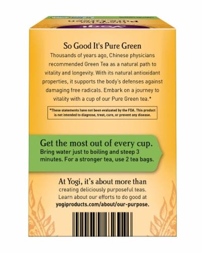 Yogi Pure Green Tea Bags Perspective: back