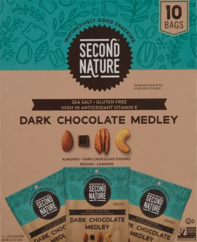 Second Nature® Gluten Free Dark Chocolate Medley Mix Packs Perspective: back