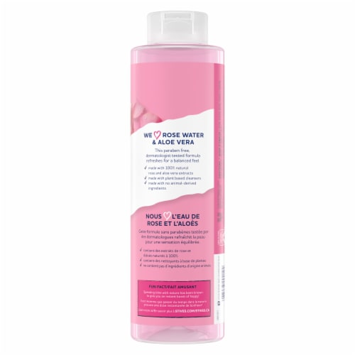 St. Ives Rose Water & Aloe Vera Refreshing Body Wash Perspective: back