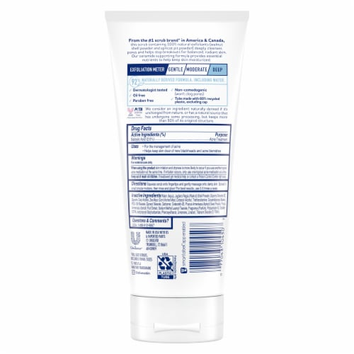 St. Ives Acne Control Oil-Free Salicylic Acid Apricot Scrub Perspective: back