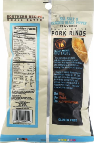 Southern Recipe Sea Salt & Cracked Black Pepper Pork Rinds Perspective: back