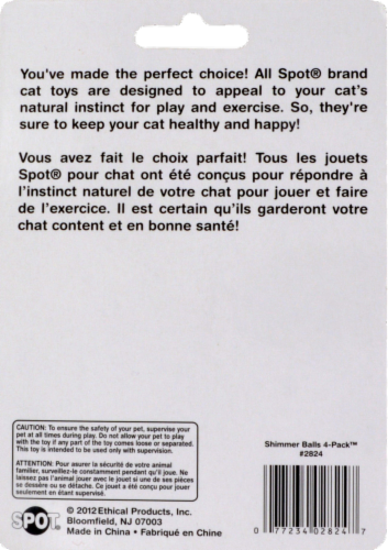 Spot Shimmer Balls Cat Toys Perspective: back