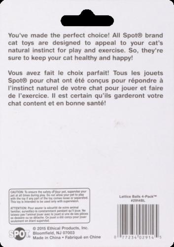 Spot Lattice Balls Cat Toys Perspective: back