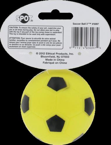 Spot Soccer Ball Vinyl Dog Toy Perspective: back