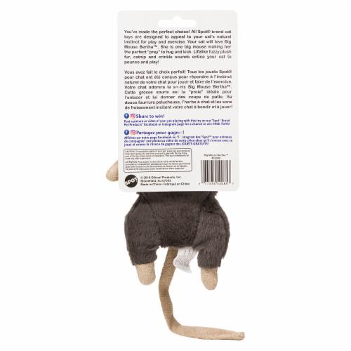Spot Big Mouse Bertha Catnip Cat Toy - Assorted Perspective: back