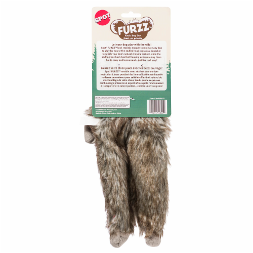 Spot Furzz Wolf Plush Dog Toy Perspective: back