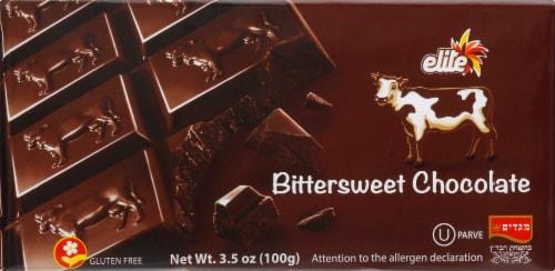 Elite Bittersweet Chocolate Bar Perspective: back