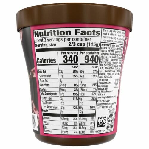 Magnum Dark Chocolate Raspberry Ice Cream Perspective: back