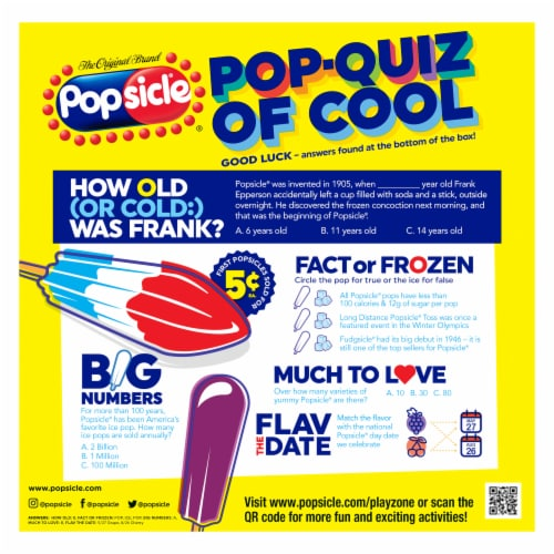 Popsicle Ice Pops Variety Pack Perspective: back
