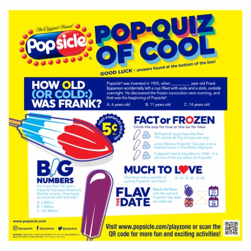 Popsicle Sugar Free Ice Pops Variety Pack Perspective: back