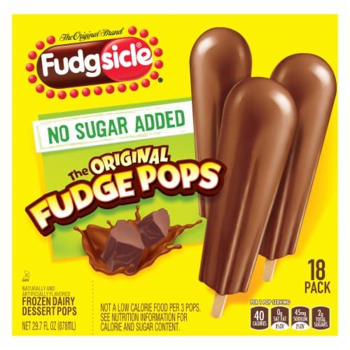 Fudgsicle® No Sugar Added Original Fudge Pops Perspective: back