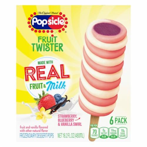 Popsicle® Fruit Twister Peach Raspberry & Vanilla Swirl Frozen Dairy Dessert Perspective: back