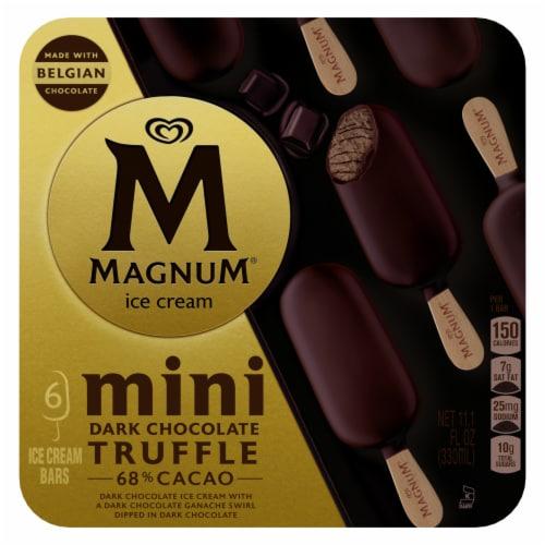 Magnum® Mini Dark Chocolate Truffle Ice Cream Bars Perspective: back