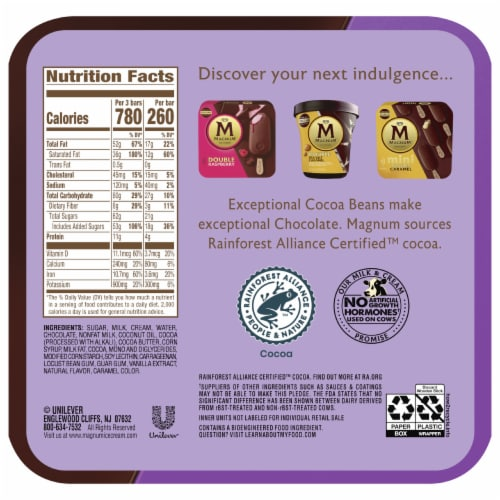 Magnum® Double Chocolate Ice Cream Bars Perspective: back