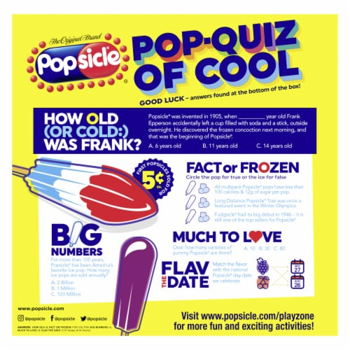 Popsicle® Firecracker Ice Pops Perspective: back