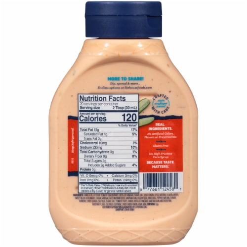 Litehouse Thousand Island Dressing & Dip Family Size Perspective: back