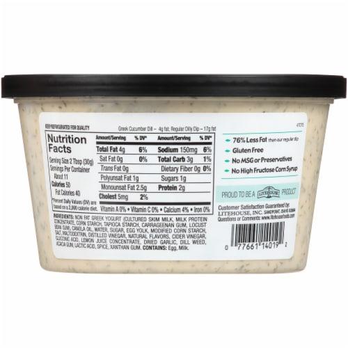 Opadipity by Litehouse Cucumber Dill Greek Yogurt Dip Perspective: back