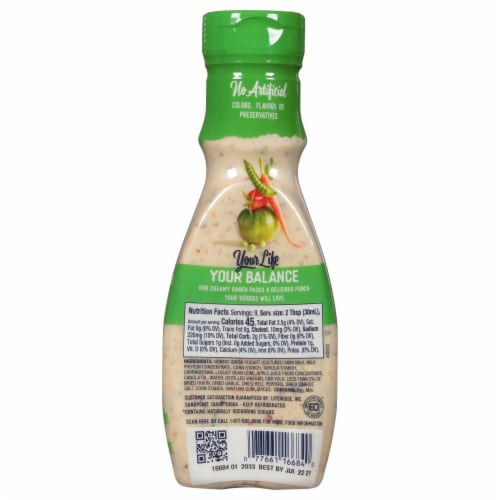 Litehouse Purely Balanced Garden Ranch Dressing Perspective: back