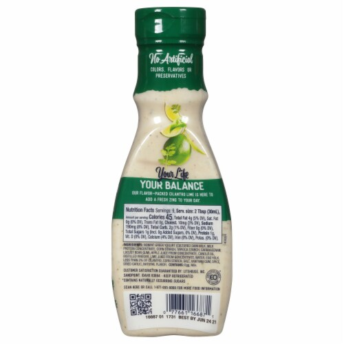 Litehouse Purely Balanced Cilantro Lime Dressing Perspective: back
