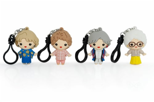 The Golden Girls 4-Piece Foam Figural Backpack Clip Figure Box Set Toynk Exclusive Perspective: back