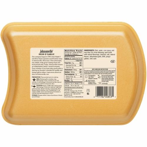 Johnsonville Irish O' Garlic Sausage Links Perspective: back