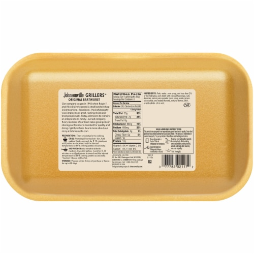 Johnsonville Grillers Original Bratwurst Patties Perspective: back