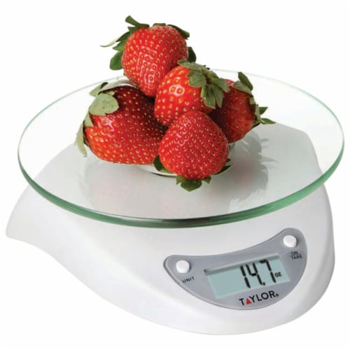 Taylor Precision Products 3831WH Digital Glass-Top Kitchen Scale Perspective: back