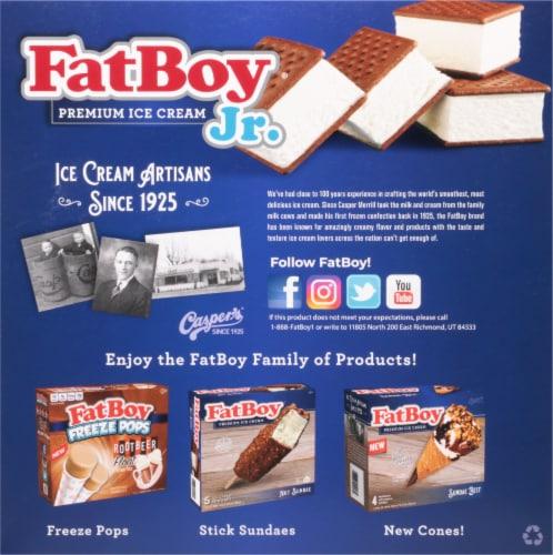 Fat Boy Jr. Mini Vanilla Ice Cream Sandwiches 18 Count Perspective: back