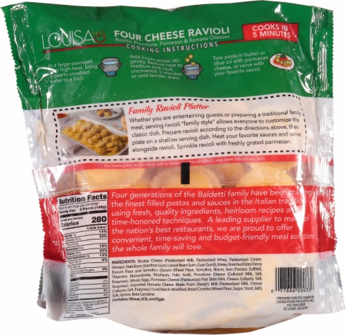 Louisa Four Cheese Round Ravioli Value Size Perspective: back
