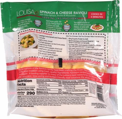 Louisa Spinach & Cheese Mezzaluna Ravioli Frozen Meal Perspective: back