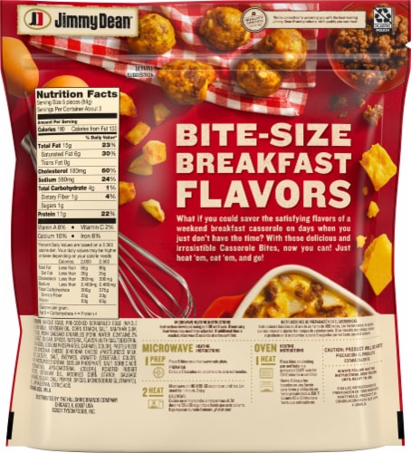 Jimmy Dean Sausage Egg & Cheese Casserole Bites Perspective: back