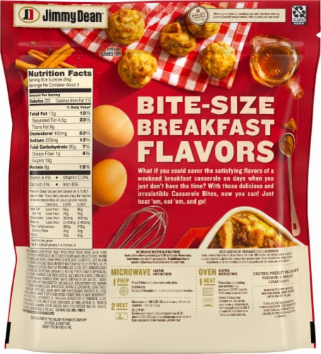 Jimmy Dean French Toast Sausage & Egg Casserole Bites Perspective: back