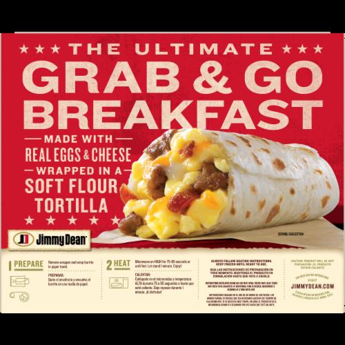 Jimmy Dean Meat Lovers Breakfast Burritos Perspective: back