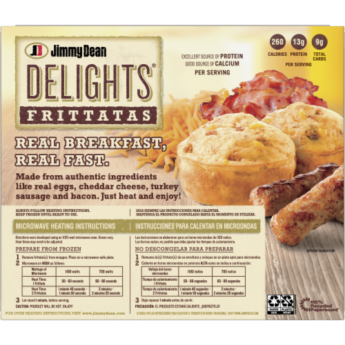 Jimmy Dean Delights Turkey Sausage and Bacon Frittatas Perspective: back