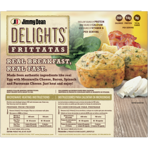 Jimmy Dean Delights® Bacon and Spinach Frittatas Perspective: back