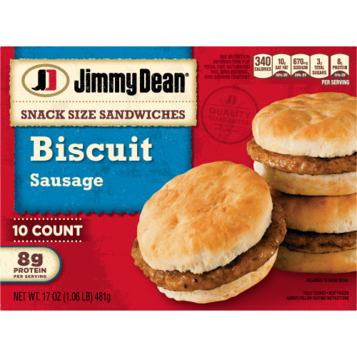 Jimmy Dean Snack Size Sausage Biscuit Sandwiches Perspective: back