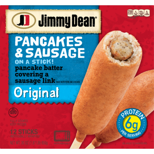 Jimmy Dean Original Pancakes & Sausage on a Stick Perspective: back