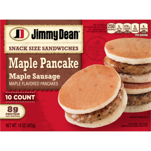 Jimmy Dean® Snack Size Maple Pancake & Sausage Sandwiches Perspective: back