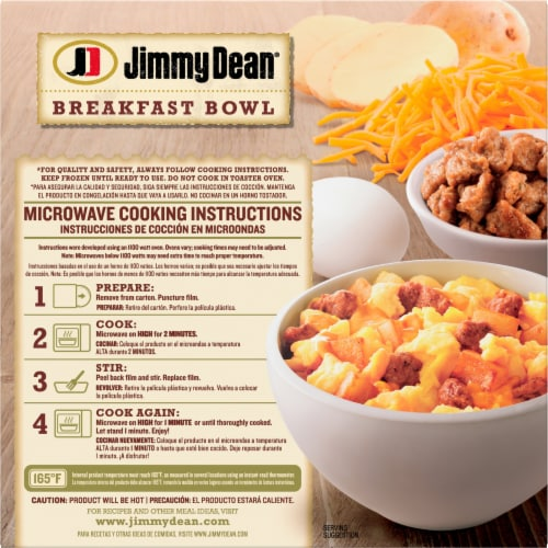 Jimmy Dean Sausage Egg & Cheese Breakfast Bowl Perspective: back