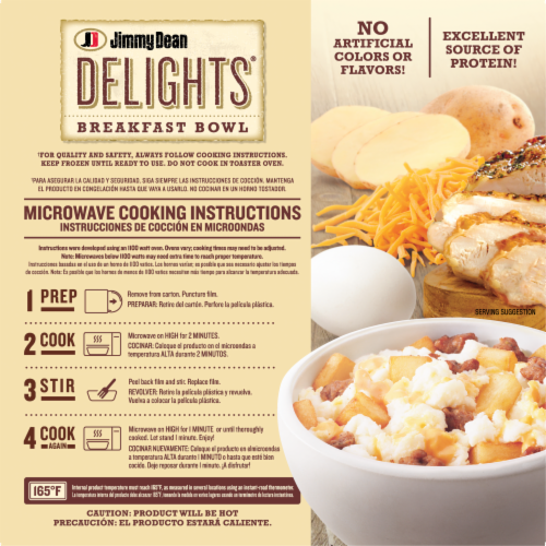 Jimmy Dean Delights Turkey Sausage Breakfast Bowl Perspective: back