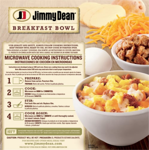 Jimmy Dean Sausage & Gravy Breakfast Bowl Perspective: back