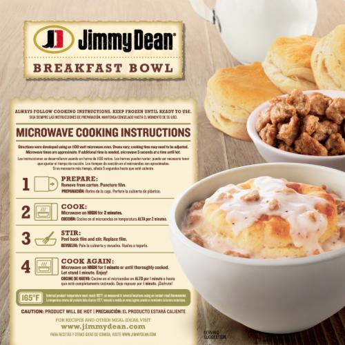 Jimmy Dean Biscuit & Sausage Gravy Breakfast Bowl Perspective: back