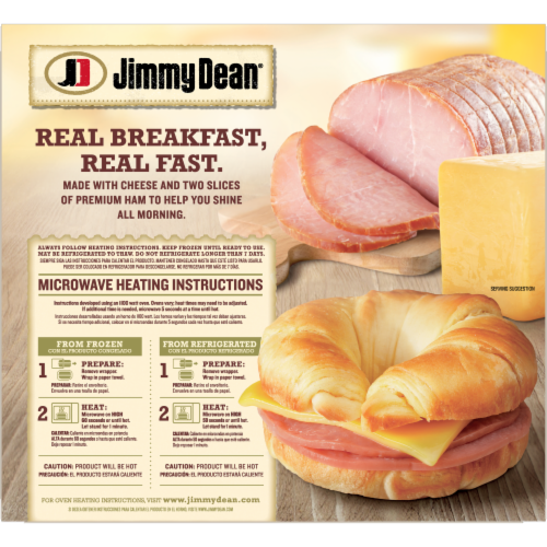 Jimmy Dean Ham & Cheese Croissant Sandwiches Perspective: back