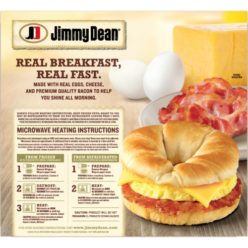 Jimmy Dean Bacon Egg & Cheese Croissant Sandwiches Perspective: back